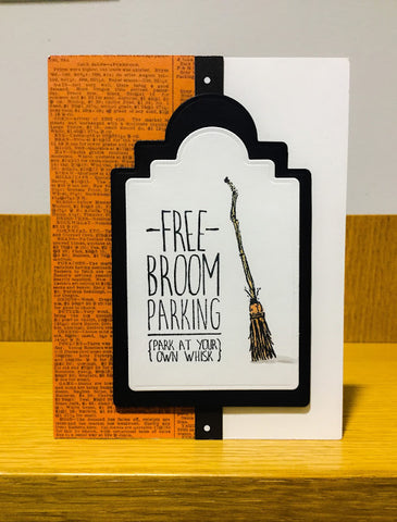 Impression Obsession - Broom Parking Cling Stamps