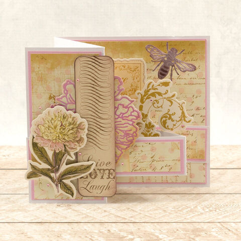 Couture Creations - Butterfly Garden - Mini Stamp - Rose Bouquet