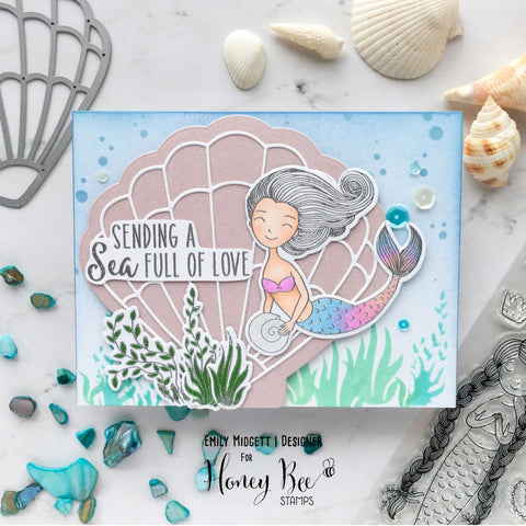 Honey Bee Stamps - Seashell Card  - Honey Cuts