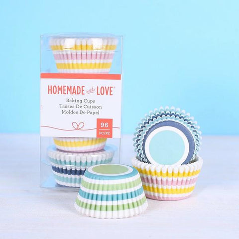 American Crafts - Homemade With Love - Mini Baking Cups Stripes