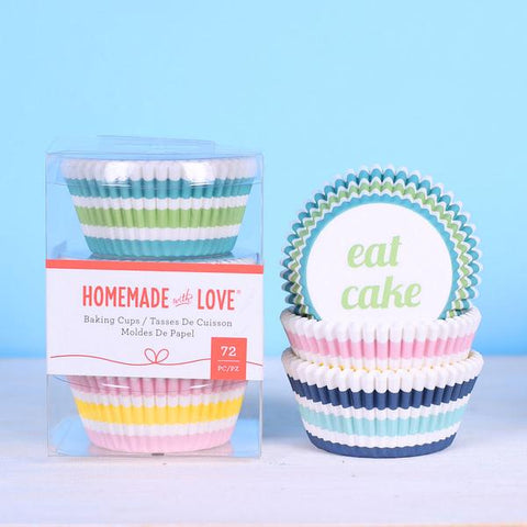 American Crafts - Homemade With Love - Baking Cups Stripes