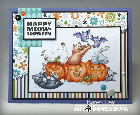Art Impressions - Meow-lloween Stamp Set