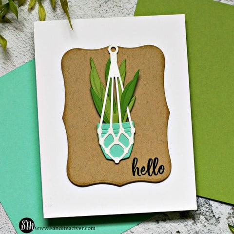 Spellbinders - Happy Plants Etched Dies from Take Time for You Collection