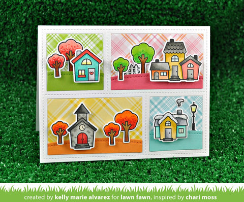 Lawn Fawn Happy Village Stamp and Die