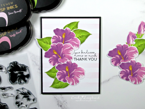 Altenew Build-A-Flower: Hibiscus Stamp, Die & Ink Bundle