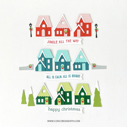 Concord & 9th - Home for the Holidays Stacks Stamp Set