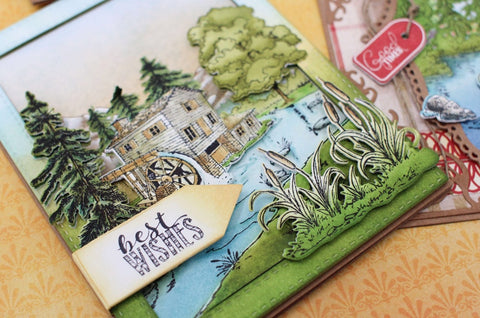 Heartfelt Creations - Create a 'scape Wilderness Cling Stamp and Die