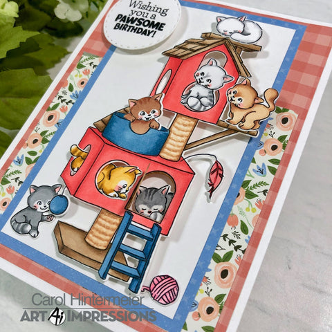 Art Impressions - Cozy Cat Cubbies Stamp