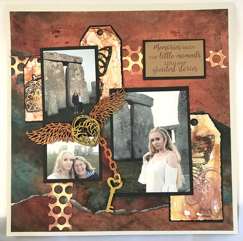 Couture Creations - Steampunk Dreams - Chipboard - Lock & Key Set