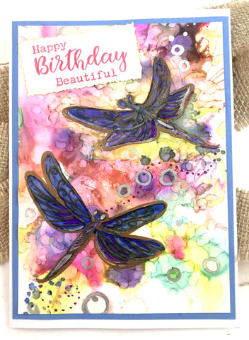 Couture Creations - Steampunk Dreams Collection - Stamp Set - Lovely Dragonflies