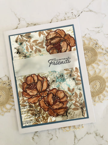 Couture Creations - Blooming Friendship - Stamp Set - Cherished Friends (12 piece)