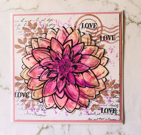 Couture Creations - Blooming Friendship - Mini Stamp - Friendly Script