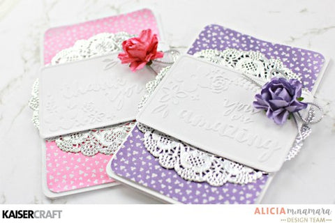 KaiserCraft - Mini Floral Card Fronts Embossing Folder