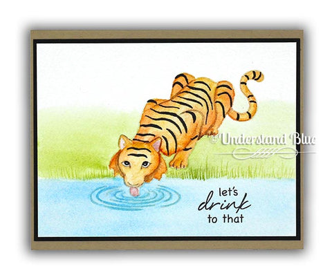 Hero Arts - Tiger Wisdom Stamp and Frame Cut Dies