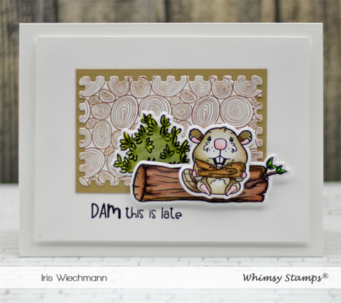 Whimsy Stamps - Tree Ring Background Rubber Cling Stamp