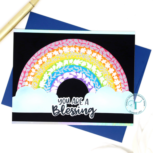 Trinity Stamps - Layered Rainbow - Layering Stencil Set of 2