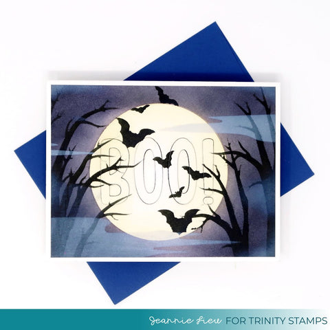 Trinity Stamps - 6x6 October Night Sky 2-Piece Laser Cut Stencil Set