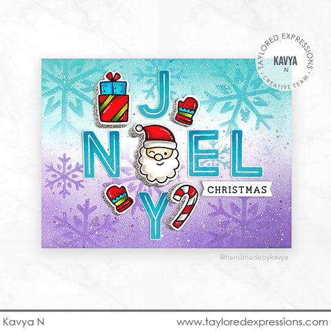 St. Nick Background Cling & Clear Stamps Combo