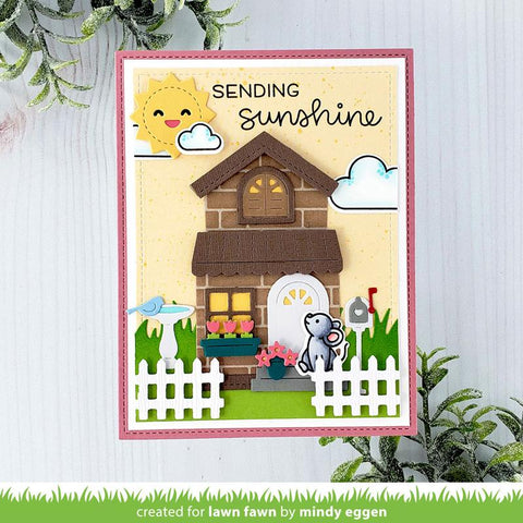 Lawn Fawn - Build-a-house Spring Add-on Dies