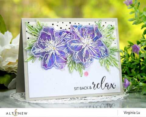 Altenew Build-A-Flower: Larkspur Altenew Layering Stamp and Die Set