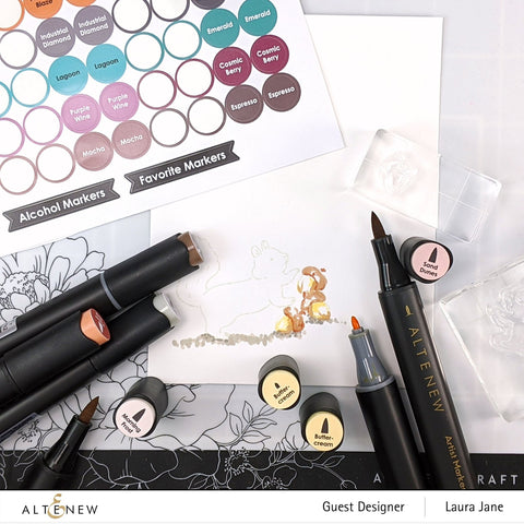 Altenew - Marker Toppers Decal Set - Small