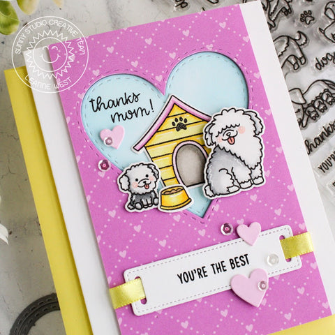 Sunny Studio - Puppy Parents Cards with Eloise and Leanne