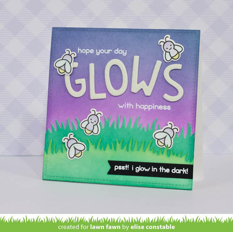 Lawn Fawn Little Fireflies Stamp and Die