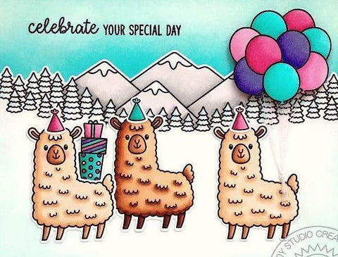 Sunny Studio Stamps - Lovable Llama Stamps and Dies