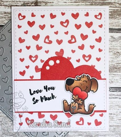 Your Next Stamp - Floating Heart Panel Die