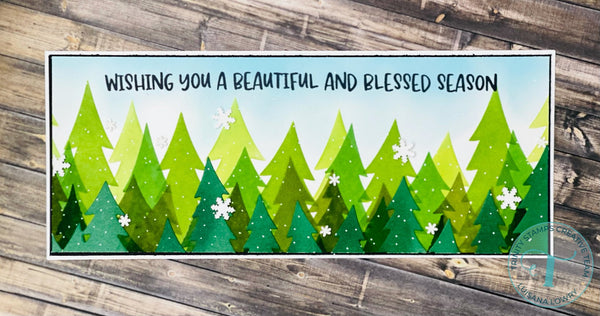Trinity Stamps - Layered Pine Forest - Layering Stencil
