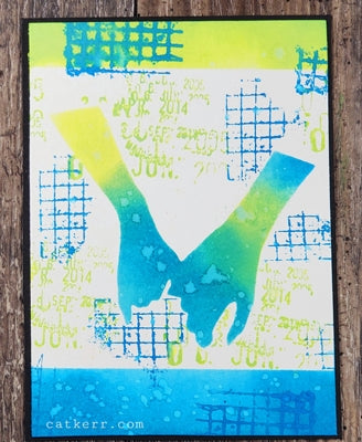 StencilGirl - Two Hands Become One Stencil and Mask