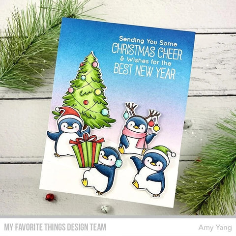 My Favorite Things - BB Holiday Penguins Stamp and Die-namics