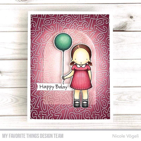 My Favorite Things - Number Jumble Background Stamp