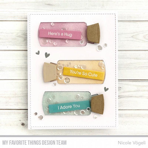 My Favorite Things - Message in a Bottle Shaker Pouches