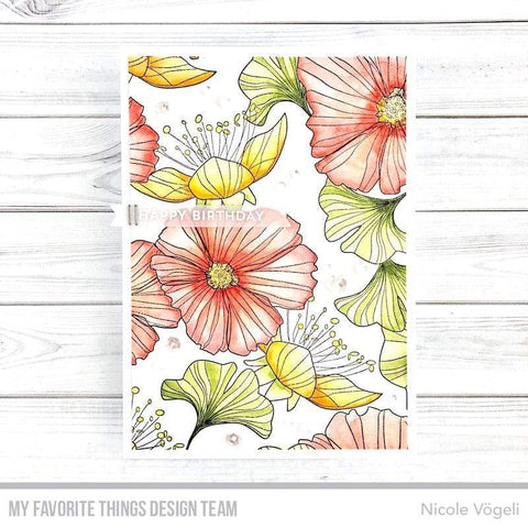 My Favorite Things - Loosely Lined Flowers Background Stamp BG-123