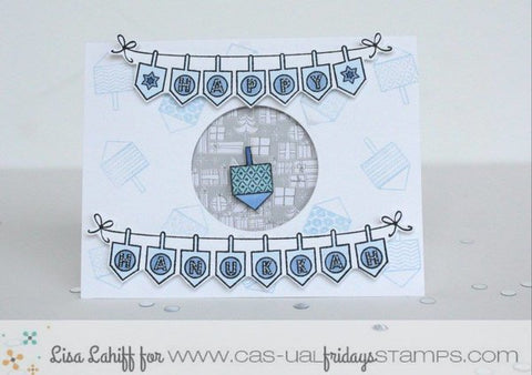 CAS-ual Fridays Stamps - Spin The Dreidel Stamp