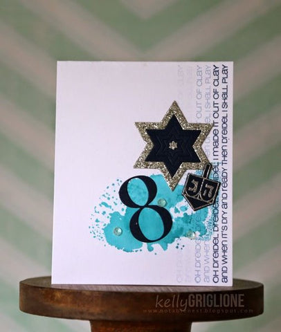 CAS-ual Fridays Stamps - 8 Happy Nights Stamp and Hanukkah Fri- Dies Sets
