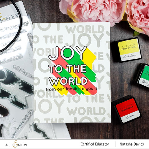 Altenew - Joy to the World Typography Simple Coloring Stencil