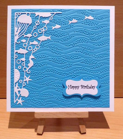 EFPP-012 Creative Expression Emboss Folder Ocean Waves PinPoint