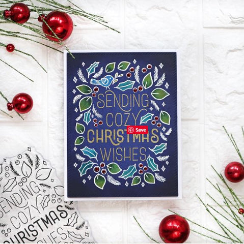 Pink Fresh Studio - Cozy Christmas Wishes - Stamp