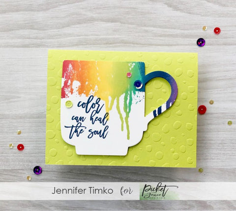 Picket Fence Studios - Color Can Heal The Soul Clear Stamp