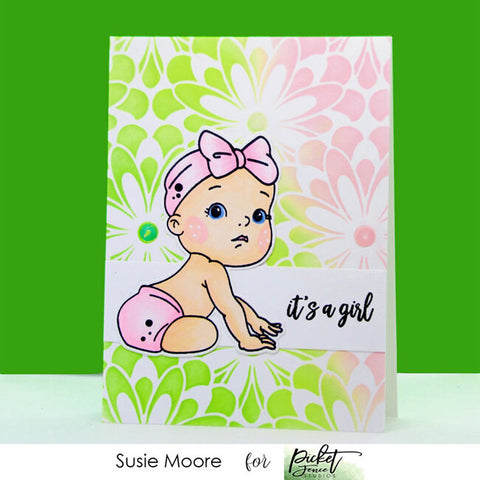 Picket Fence Studios - Baby Girl of All Seasons Clear Photopolymer Stamps