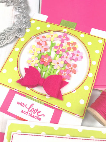 Pinkfresh Studio - Partial Cut Bouquet and a Bow Die Set