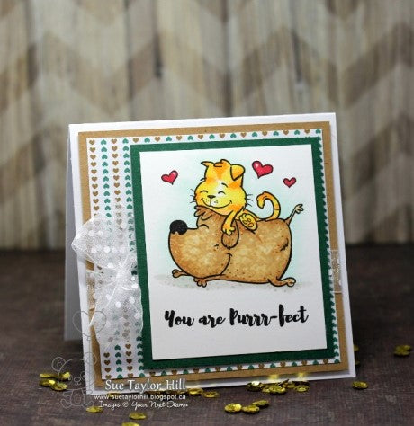 Your Next Stamp - Purrr-fect Friends Stamp and Die
