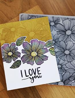 Ranger - Simon Hurley - Background Stamp Sketched Bouquet