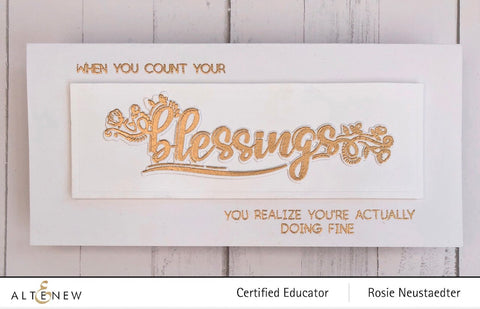 Altenew - Greatest Blessings Stamp Set
