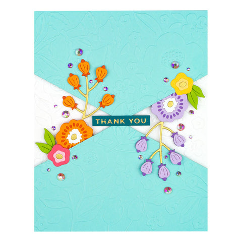 Spellbinders - Color Block Panel Die from Liberty Collection