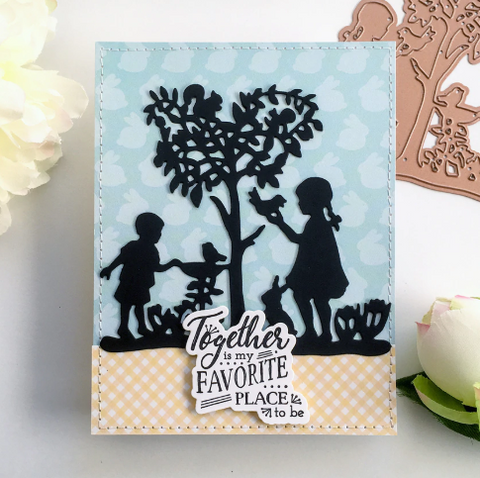 Spellbinders - Shapeabilities Etched Die -  Peaceful Garden - Great, Big Wonderful World by Sharyn Sowell
