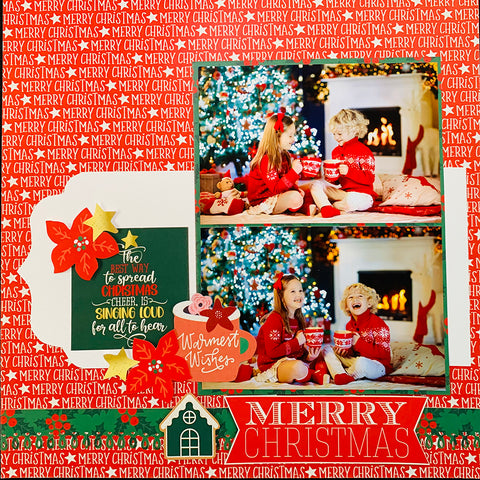 """Reminisce Double-Sided Paper Pack 6""""X6"""" 24/Pkg - Christmas Wishes, 8 Designs/3 Each"""