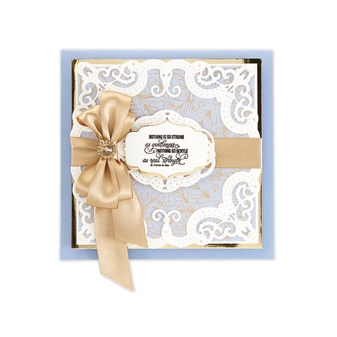 Spellbinders - Candlewick Edged Corners Etched Dies - Candlewick Sampler Collection